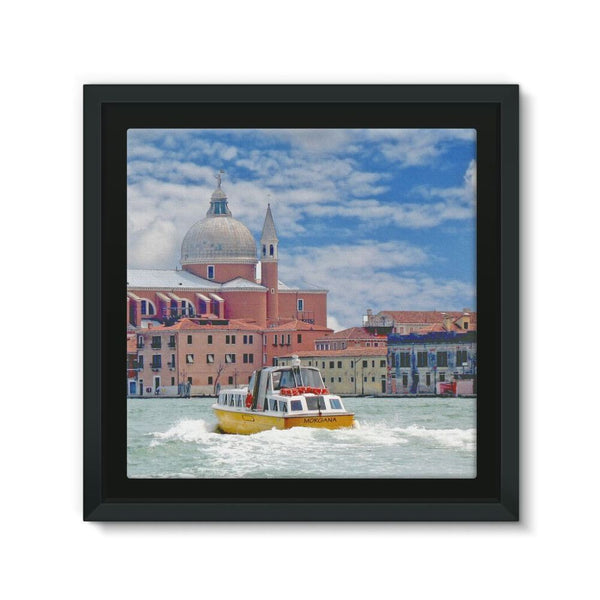 Coast Of Venize Framed Canvas 12X12 Wall Decor