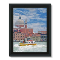 Coast Of Venize Framed Canvas 12X16 Wall Decor
