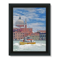 Coast Of Venize Framed Canvas 18X24 Wall Decor