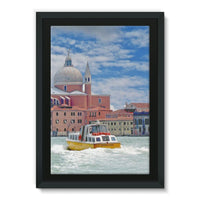 Coast Of Venize Framed Canvas 24X36 Wall Decor