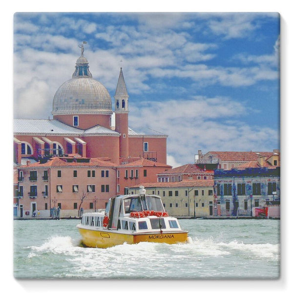Coast Of Venize Stretched Canvas 10X10 Wall Decor