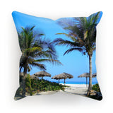 Coconut Trees Cushion Faux Suede / 18X18 Homeware