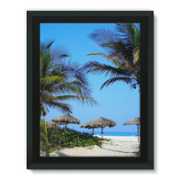 Coconut Trees Framed Eco-Canvas 18X24 Wall Decor