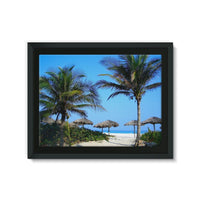 Coconut Trees Framed Eco-Canvas 24X18 Wall Decor