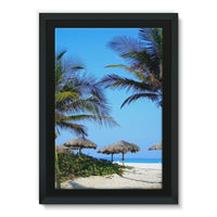 Coconut Trees Framed Eco-Canvas 24X36 Wall Decor