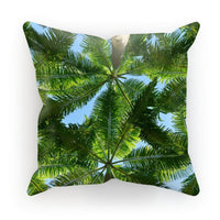 Coconut Trees Leaves Pattern Cushion Faux Suede / 18X18 Homeware