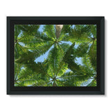 Coconut Trees Leaves Pattern Framed Canvas 16X12 Wall Decor
