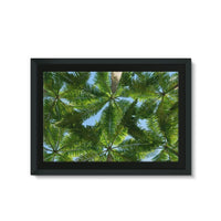 Coconut Trees Leaves Pattern Framed Canvas 30X20 Wall Decor