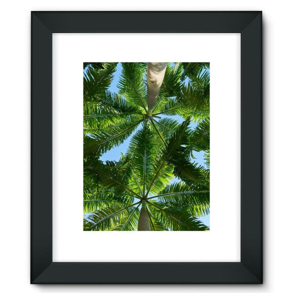 Coconut Trees Leaves Pattern Framed Fine Art Print 12X16 / Black Wall Decor