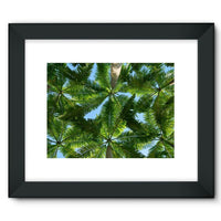 Coconut Trees Leaves Pattern Framed Fine Art Print 16X12 / Black Wall Decor