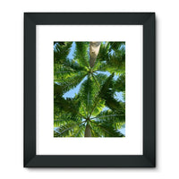 Coconut Trees Leaves Pattern Framed Fine Art Print 18X24 / Black Wall Decor