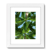 Coconut Trees Leaves Pattern Framed Fine Art Print 24X32 / White Wall Decor