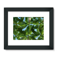 Coconut Trees Leaves Pattern Framed Fine Art Print 32X24 / Black Wall Decor