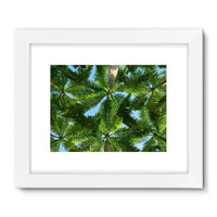 Coconut Trees Leaves Pattern Framed Fine Art Print 32X24 / White Wall Decor