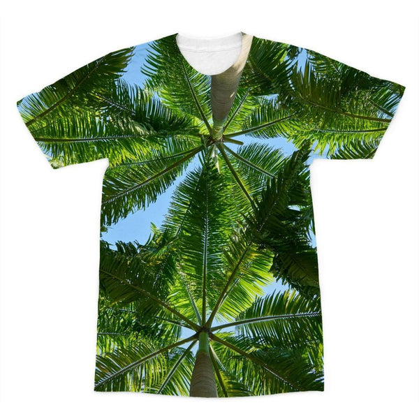 Coconut Trees Leaves Pattern Sublimation T-Shirt Xs Apparel