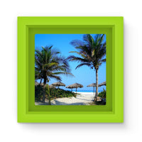 Coconut Trees Magnet Frame Green Homeware