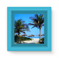 Coconut Trees Magnet Frame Light Blue Homeware