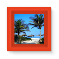 Coconut Trees Magnet Frame Red Homeware
