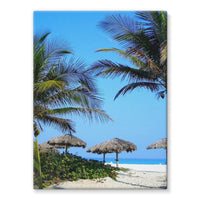 Coconut Trees Stretched Eco-Canvas 18X24 Wall Decor