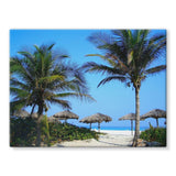 Coconut Trees Stretched Eco-Canvas 24X18 Wall Decor