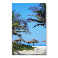 Coconut Trees Stretched Eco-Canvas 24X36 Wall Decor