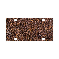 Coffee Beans Pattern Classic License Plate