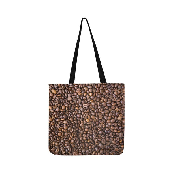 Coffee Beans Pattern Reusable Tote Shopping Bag (Two Sides) (1660)