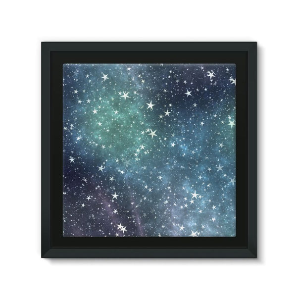 Collection Of Stars Night Framed Canvas 12X12 Wall Decor