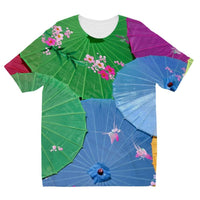 Color Full Umbrellas Kids Sublimation T-Shirt 3-4 Years Apparel