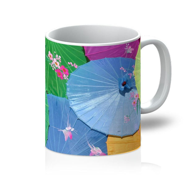 Color Full Umbrellas Mug 11Oz Homeware
