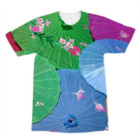 Color Full Umbrellas Sublimation T-Shirt Xs Apparel