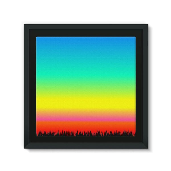 Color Pattern With The Night Framed Canvas 12X12 Wall Decor