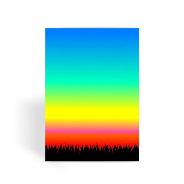 Color Pattern With The Night Greeting Card 1 Prints