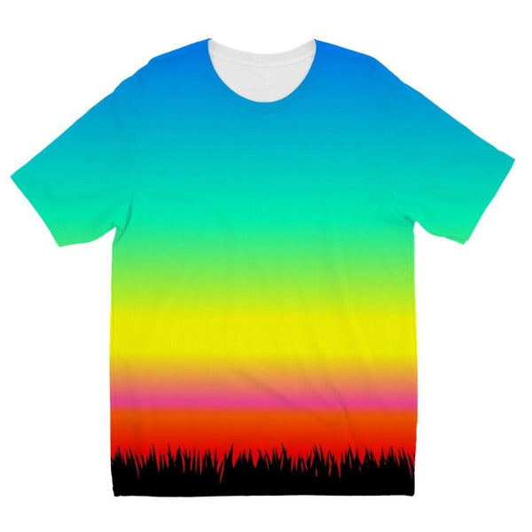 Color Pattern With The Night Kids Sublimation T-Shirt 3-4 Years Apparel