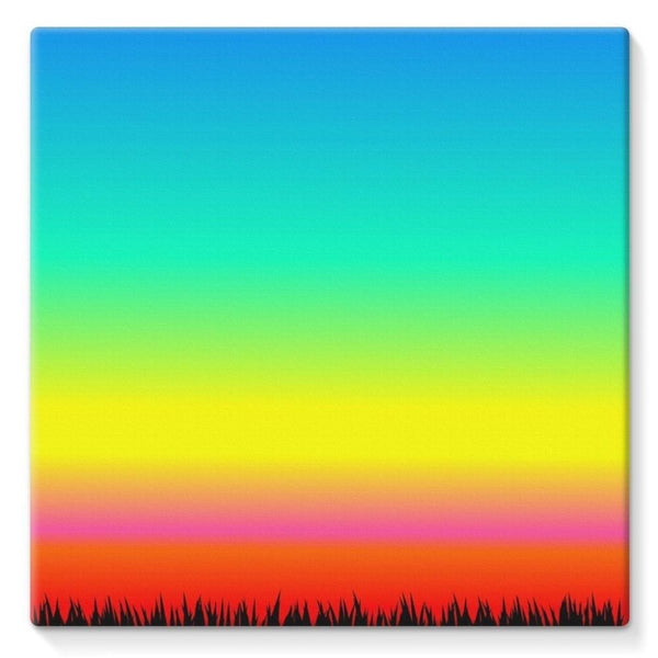 Color Pattern With The Night Stretched Canvas 10X10 Wall Decor