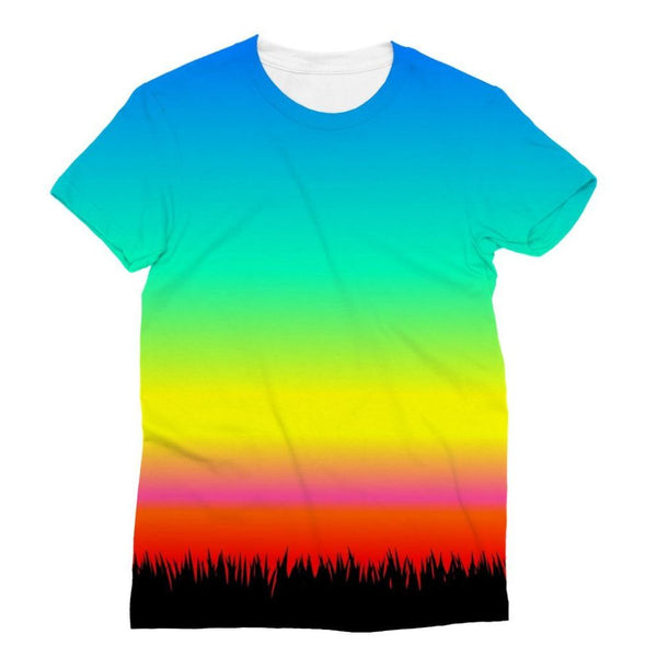 Color Pattern With The Night Sublimation T-Shirt Xs Apparel