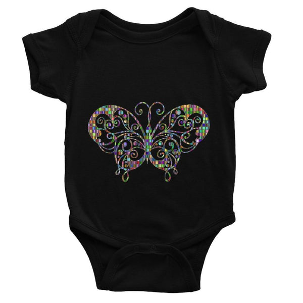 Colorful Butterfly Baby Bodysuit 0-3 Months / Black Apparel
