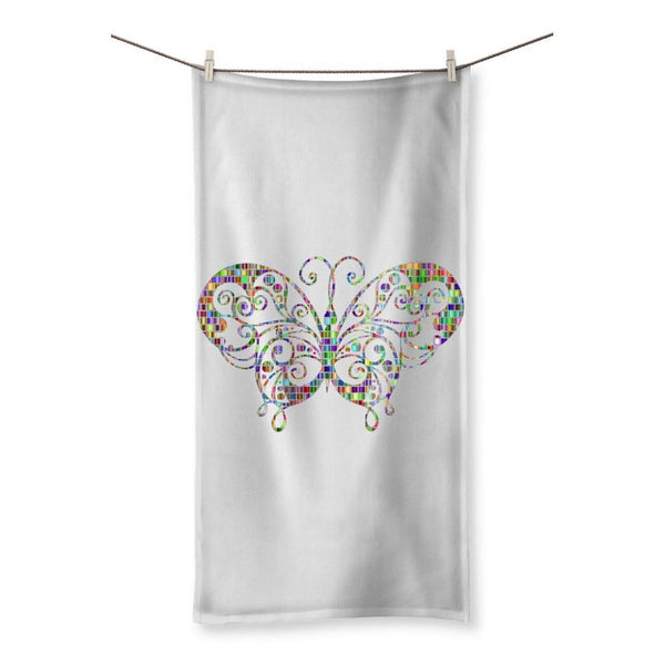Colorful Butterfly Beach Towel 19.7X39.4 Homeware