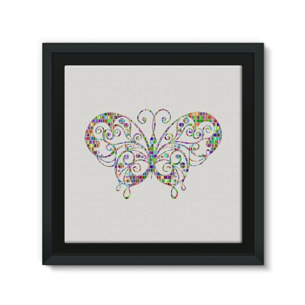 Colorful Butterfly Framed Canvas 12X12 Wall Decor