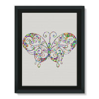 Colorful Butterfly Framed Canvas 12X16 Wall Decor