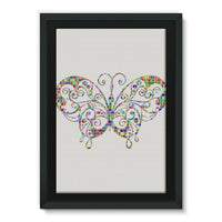 Colorful Butterfly Framed Canvas 20X30 Wall Decor