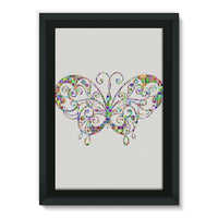 Colorful Butterfly Framed Canvas 24X36 Wall Decor