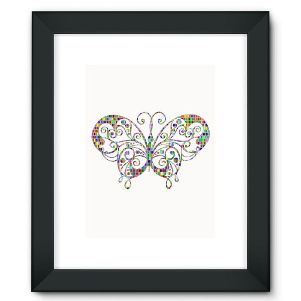 Colorful Butterfly Framed Fine Art Print 12X16 / Black Wall Decor