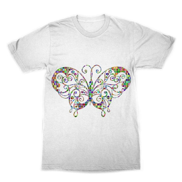 Colorful Butterfly Sublimation T-Shirt Xs Apparel
