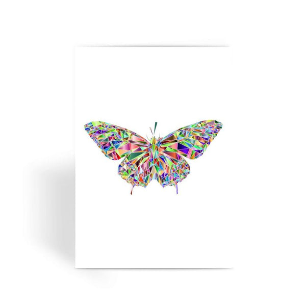 Colorful Crystal Butterfly Greeting Card 1 Prints