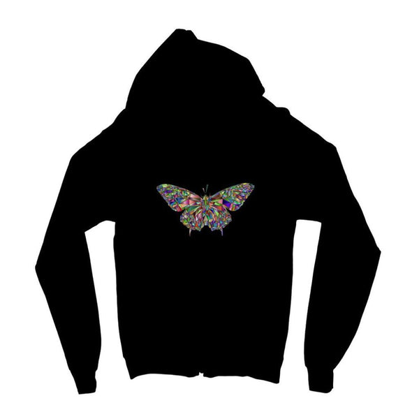 Colorful Crystal Butterfly Kids Zip Hoodie 3-4 Years / Jet Black Apparel