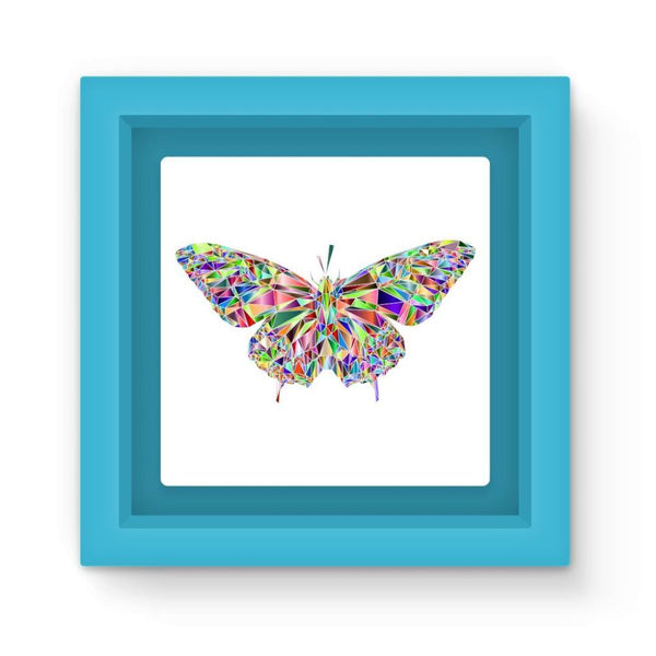 Colorful Crystal Butterfly Magnet Frame Light Blue Homeware