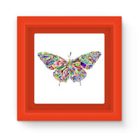 Colorful Crystal Butterfly Magnet Frame Red Homeware