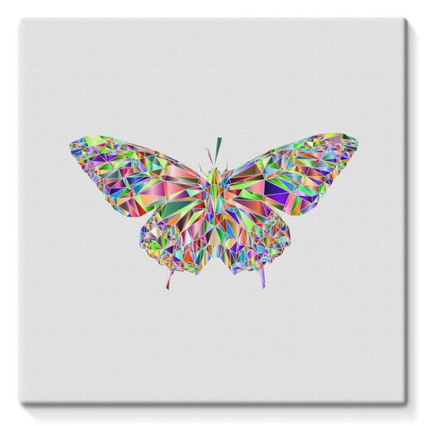 Colorful Crystal Butterfly Stretched Eco-Canvas 10X10 Wall Decor