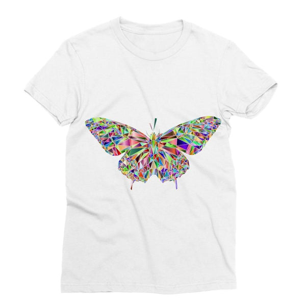 Colorful Crystal Butterfly Sublimation T-Shirt S Apparel